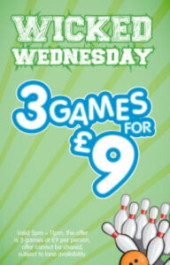 Wicked Wednesday – 3 games for £9.00